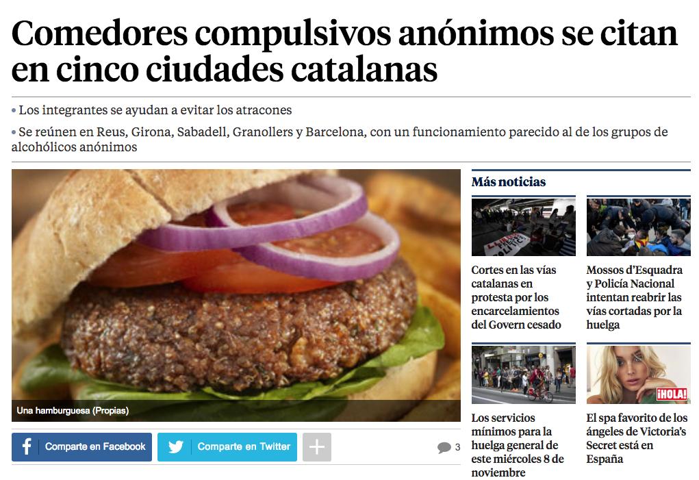 Comedores compulsivos an nimos prensa lavanguardia comedores compulsivos an nimos - Comedores compulsivos anonimos ...